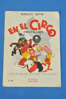 Partitura Piano Infantil Circo Rodolfo Sastre Ilustracion