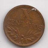 Portugal Moneda De 10 Centavos Año 1968 !!!