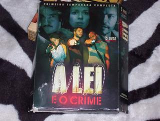 Box Dvds A Lei E O Crime..original Serie Da Record.-