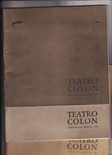 Teatro Colon Temporada Oficial 1969/1970/1971