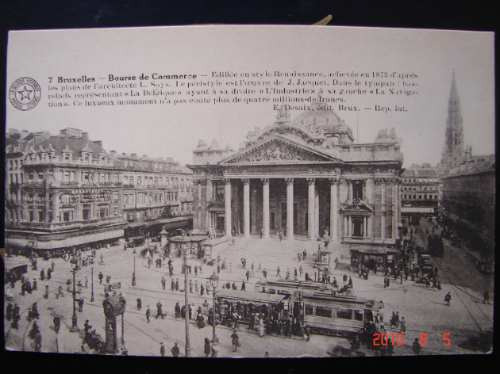 Bolsa De Comercio De Bruselas. Muy Antigua Postal.