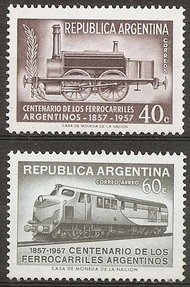 Argentina Gj 1084/5 Año 1957 Mt 577 Ae 47 Ferrocarriles