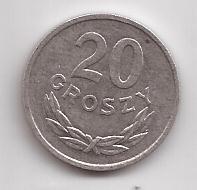 Polonia Moneda De 20 Groszy Año 1965 !!!