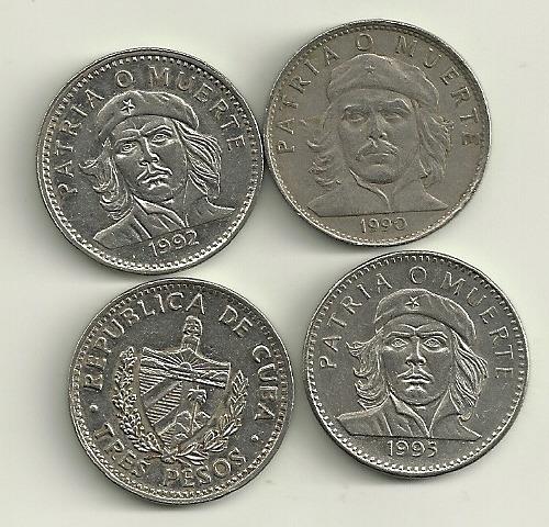 Moneda 3 Pesos Cuba Che Guevara Año 1990 A 1995