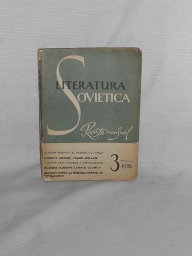 Imagen 1 de 1 de Literatura Soviética. No. 3 1958.