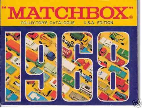 Matchbox Collector`s Catalogue 1968 A Lesney Catalogo Mint
