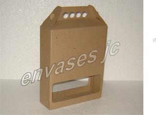 Caja Botella Cartón Micro Corrugado Cartulina Copa Chop Vaso