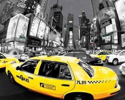 Rush Hour Times Square - Excelente Poster De 40 X 50 Cm