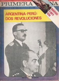 Revista Primera Plana - Nº 342 Argentina - Peru / Ongania