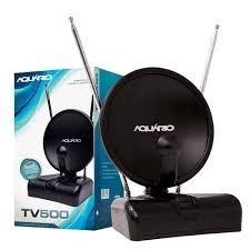 Antena Digital Aquário Tv500 Fullhd Sinal Digital 4 Em 1