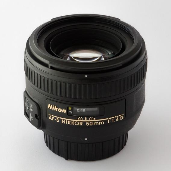 Lente Nikkor Af-s 50mm F/1.4 G Garantia/pronta Entrega
