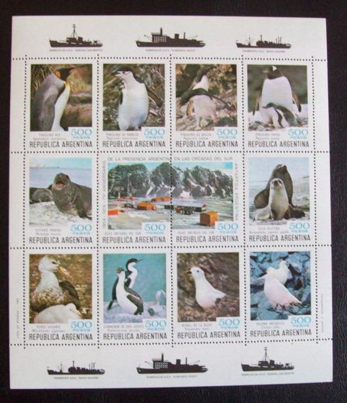 Argentina, Bloques Gj Hb 43-44 Fauna Antártica 80 Mint L0709