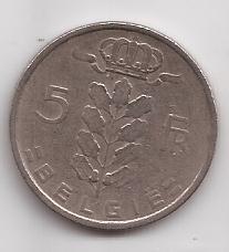 Belgica Moneda De 5 Fcrancos Año 1950 Belgie !!!