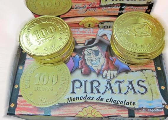 60 Monedas Piratas Chocolate - Muy Barato En La Golosineria