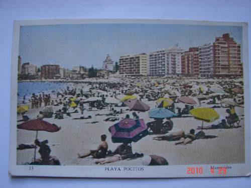 Pocitos, Playa. Montevideo. Antigua Postal.