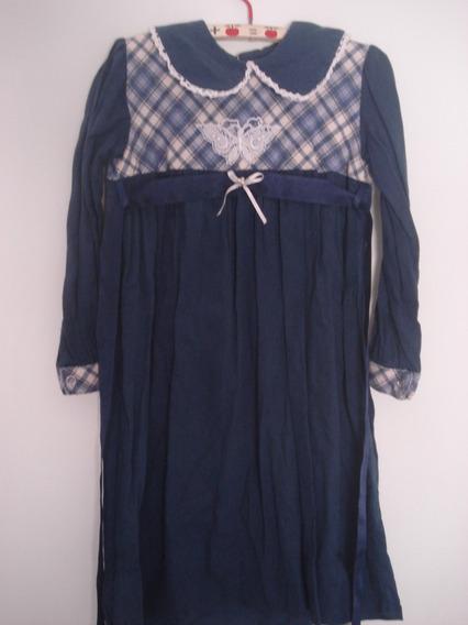 Vestido Para Nena Azul Marino Talle 4