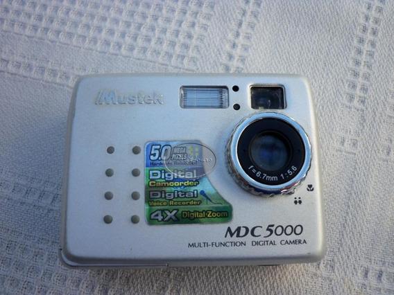 Mustek+cámara De Fotos Digital 5 Mp. A Reparar/ M Pago*