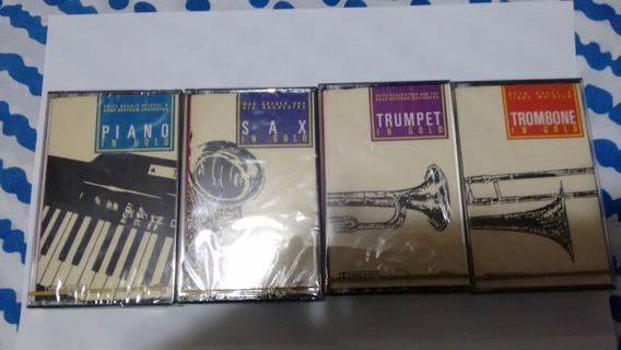4 Fitas K7 Coleção Piano,sax,trumpet E Trombone Lacradas