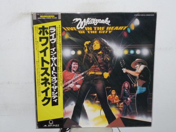 Whitesnake Live In The Heart Of The City Vinilo Japones