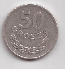 Polonia Moneda De 50 Groszy Año 1973 !!!