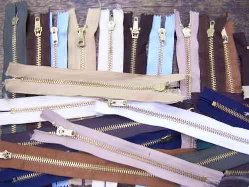 Lote Merceria * 31 Cierres De Bronce Nº 18 * Varios Colores