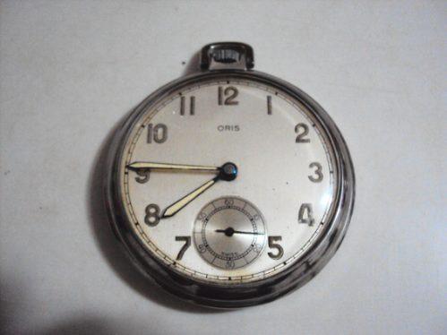 A R S T - Relógio De Bolso Antigo Oris Suíço