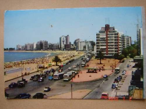 Montevideo, Playa Pocitos. Antigua Postal