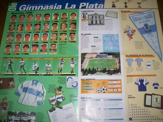 Poster Gimnasia Lp- Atlas Del Futbol Argentino (073) Ole