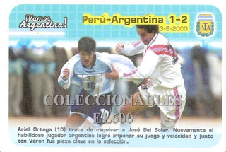 Vamos Argentina Panini Maxi Card # 34 Peru / Argentina