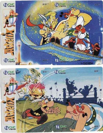 2 Rompecabezas De Asterix - Con Tarjetas Telefonicas Chinas