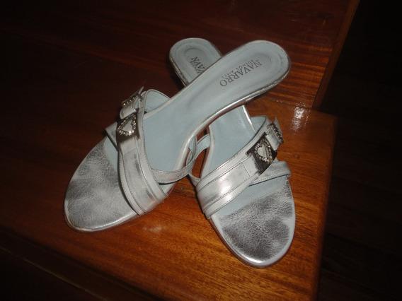Zapatos/sandalias/navarro Hebilla Con Strass