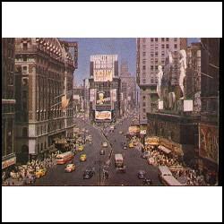 Tarjeta Postal New York City Pepsi Cola 1950