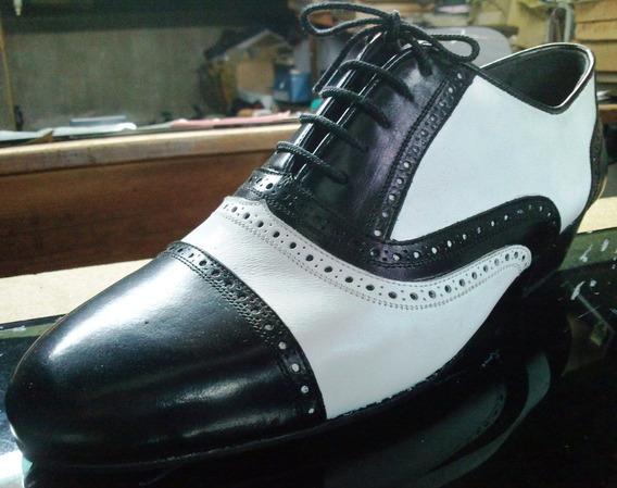Zapatos Artesanales Cuero Para Baile: Tango Salsa Rock Etc