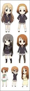 Plancha De Stickers De Anime De K-on Yui Mio Ritsu Tsumugi