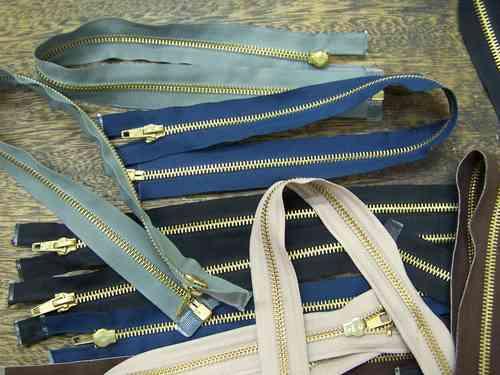 Imagen 1 de 3 de Lote Merceria * 14 Cierres De Bronce Nº 45 * Varios Colores