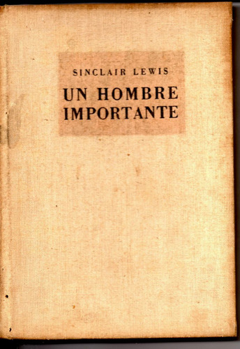Un Hombre Importante.sinclair Lewis