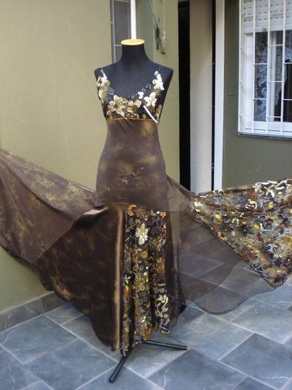 Espectacular Vestido De Shiosi Bordado A Mano