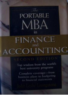 The Portable Mba In Finance And Accounting Livingstone Est