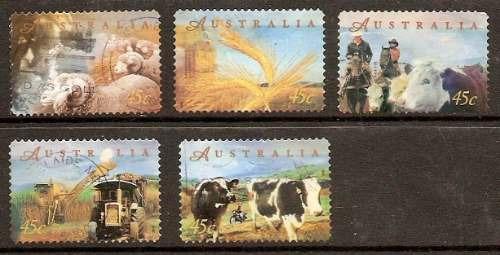 Australia - Producción Agraria - Serie Completa De 5 Valores -