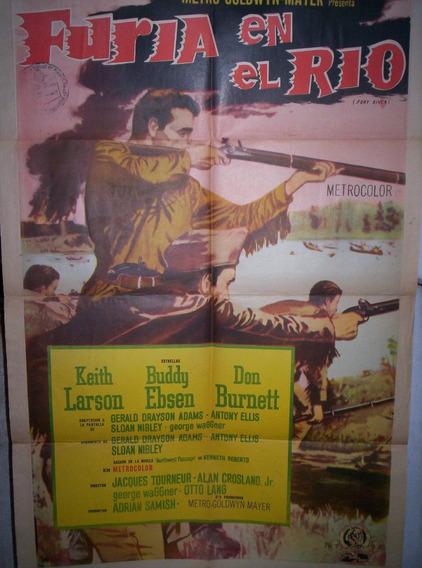 Furia En El Río (1961) Afiche De Cine, Antiguo, Cartel