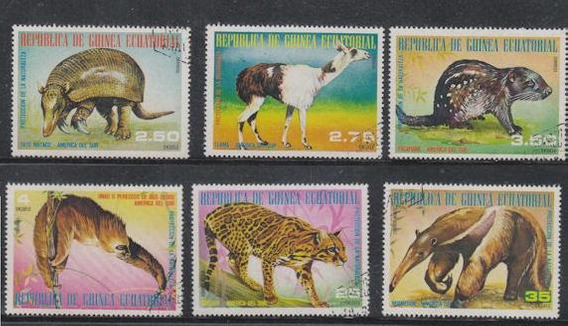 Guinea Ecuatorial 1977 Serie Tematica De Fauna Completa