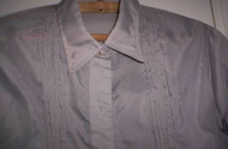 Camisa Seda Gris Espalda 42 Cuello 39 Perfecta