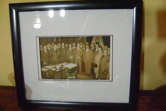 Fotografia Original Peron 1944 Reunido Minoristas.