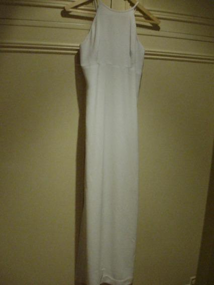 Vestido Vitamina Formal Largo Blanco Talle M- Novias/15 Años