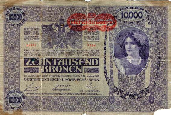 Billete Aleman 10.000 Deutschosterreich Año 1918