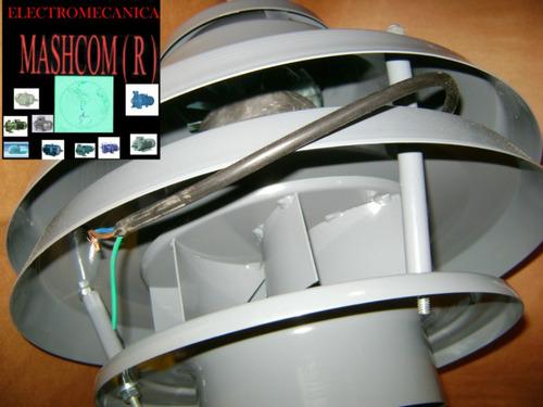 Extractor Parrillero Hongo De 6 Centrifugo  Motor De 1/10 Hp