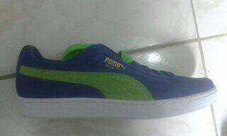 Tênis Puma Azul E Verde De $250,00 Por Apenas $220,00 Só.