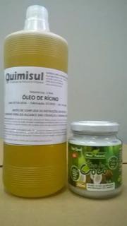 Óleo Coco 200ml + Oleo Ricino 1 Lt + 1kg Bicarbonato Sódio
