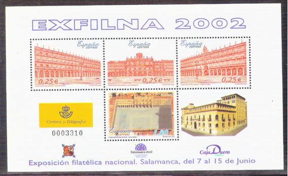 C@- España - Exfilna 2002 - Muy Linda Hojita Block Mint -