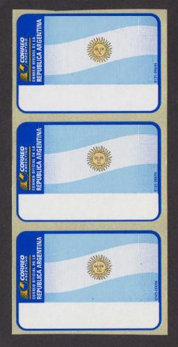Argentina 3 Labels Autoadhesivos De Maquinas Franqueadoras